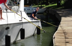 The Boat Loop will help you avoid damage from hitting the dock or other boats
